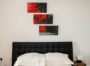 bedroom triptych example