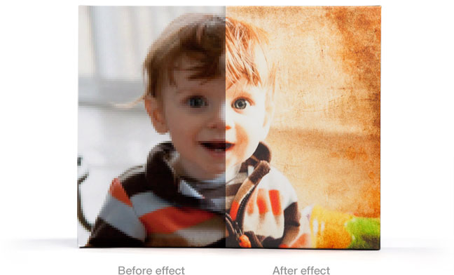 An example of a filter applied to a canvas print.